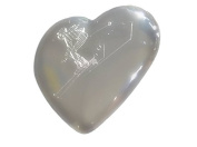 I Love To Ski - Engraved Heart Shaped Compact Mirror