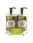 Tropical Fruits Coconut & Lime Hand Care Caddy