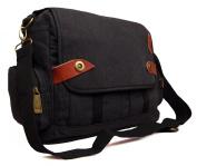 Mens Womens Canvas School Work College Laptop Uni Satchel Messenger Shoulder Bag
