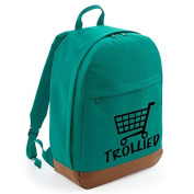 TROLLIED- Drunk, boozing Student Style Cool Graphic, Retro BackPack Men's Rucksack Bag