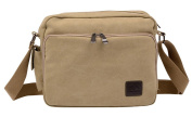 Men Package Leisure Bags Canvas Shoulder Bag Men Messenger Bag Schoolbags Brown