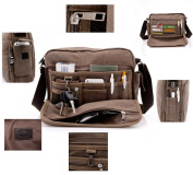 Men Package Leisure Bags Canvas Shoulder Bag Men Messenger Bag Schoolbags Coffee
