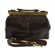Doctor Leather Bag Dark Brown - Genuine Leather Bags Made In Italy - Business Bag