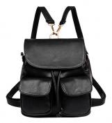 Handbags Fashion Simple Backpack Shoulder Bag Ladies of Leisure Large Capacity Schoolbag Black