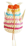The New Striped Straw Backpack Beach Bags Woven Rattan Bag 1#
