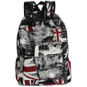 Keshi Vintage Style Unisex Fashion Casual School Travel Laptop Backpack Rucksack Daypack Tablet Bags Canvas