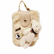Cute Bear Mini Cross-body Coin Purse Wallet Shoulder Bag Card Holder Cell Phone Bag