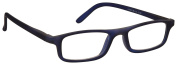 The Reading Glasses Company Rubberized Matt Navy Blue Lightweight Comfortable Womens Mens Inc Case UVR017BL Strength +2.00