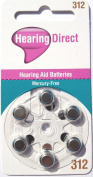 Hearing Aid Batteries Size 312 by Hearing Direct - Pack of 60