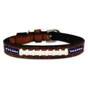 NFL Houston Texans Leather Dog Collar