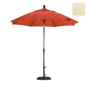 California Umbrella 2.7m Round Aluminium Pole Fibreglass Rib Market Umbrella, Crank Lift, Collar Tilt, Bronze Pole, Sunbrella Canvas