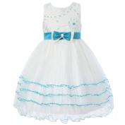 Richie House Little Big Girls' Princess Dress with Layered Bottom Size 3-12