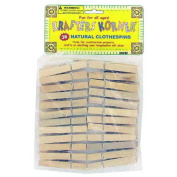 Bulk Buys Natural wood craft clothespins Case Of 24