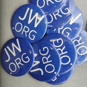 Jw.org 3.8cm Buttons with Safty Pin - Pack of 10 Made in USA