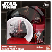 Zak! Designs 3-piece Mealtime Set includes Plate, Bowl and Tumbler with Star Wars The Force Awakens Graphics, BPA-free