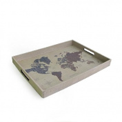 Accents by Jay Modern World Burlap Tray