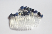 Sodalite Stone Hair Combs