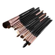 Professional 15pcs Makeup Foundation Mascara Lip Eyeshadow Eyebrow Brushes Set