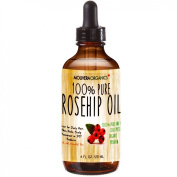 Molivera Organics Rosehip Oil 120ml 100% Pure Premium Organic Cold Pressed Virgin Oil From Chile-Best for Hair, Skin, Face & Nails - Great for DIY - UV Resistant Bottle - Satisfaction Guarantee