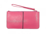 Dealstores123 - Women's Leather Clutch with three zippered compartments