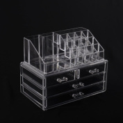 HomCom Acrylic Makeup and Jewellery Storage Case - Clear