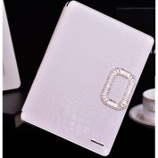 EVTECH(TM) Crocodile Leather Case Bling Crystal Rhinestone Diamond Design Sparkle Glitter Type Magnet Flip Case Cove rSmartShell Case for Apple iPad mini 20cm (1st Gen) Ultra Slim Lightweight with Smart Cover Auto Wake / Sleep