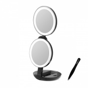SALE! Lighted Makeup Mirror for Travel and Home 10x 1x Vanity Mirror with BONUS Eyebrow Tweezers