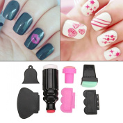 DancingNail 7pcs Silicone Nail Art Stamper And Scraper Set Manicure Polish Stamp Image Tool Kit