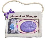 Savon de Marseille Lavender Sachet, Bath Soap Bar and Ceramic Dish Gift Set