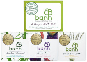 banh All Natural Vegan Cold Process Soap Bar Gift Set in Box - Includes 3 x 100ml Soaps