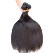 Grade 6A Peruvian Straight Hair Unprocessed Hair Weft Natural Black 3 Bundles 41cm 46cm 50cm