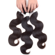 Grade 6A Mixed Length 30cm 36cm 41cm Unprocessed Malaysian Remy Human Hair Weave Weft Body Wave Hair Extension Natural Black