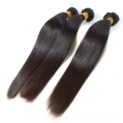 Grade 6A Peruvian Straight Hair Unprocessed Hair Weft Natural Black 3 Bundles 36cm 36cm 36cm