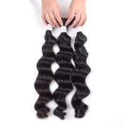 Grade 6A Mixed Length 30cm 36cm 41cm Unprocessed Malaysian Remy Human Hair Weave Weft Loose Wave Hair Extension Natural Black