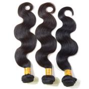 Grade 6A Peruvian Body Wave Hair Unprocessed Hair Weft Natural Black 3 Bundles 30cm 30cm 30cm