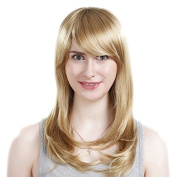 ACVIP Women Long Golden Blond Wig Synthetic Hair