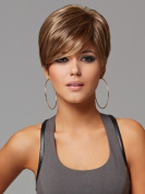 Marian® Fashion Hairstyles Sythetic Short Straight Brown Wigs for Women with Bangs + a Free Wig Cap