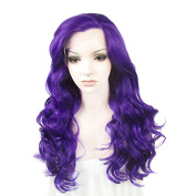 Lace Wig Long 60cm Wave Synthetic Lace Front Wig High Density Violet