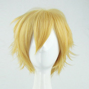 BROTHERS CONFLICT Asahina Natsume Golden Cosplay Costume Wig + Free Wig Cap