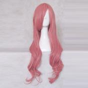 Baka to Tesuto to Shōkanju Himeji Mizuki Pink 80CM Long Curly Cosplay Costume Wig + Free Wig Cap