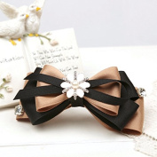 Queen Star Bow Hair Handmade Women Fashionable and Elegant Barrette Hair Clip Fish Mouth Clamp 2 Pcs