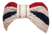 Bling/Pearl Red/Beige/Navy Wide Headwrap Headband Patriotic