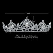 Birthday Tiara Wedding Crown Crystals Headband for Bridal Pearl Hair Jewellery Accessories with Rhinestone SHA8663