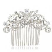 Vintage Style CZ Rhinestone Hair Comb Pins Bridal Wedding Hair Accessories Jewellery 2253R