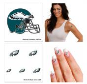 Philadelphia Eagles NFL Temporary Tattoo Fan Fun Pack