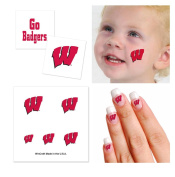 University of Wisconsin Badgers Temporary Tattoo Fan Pack