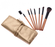New Professional 4 Colours One Bag 7pcs Make Up Brushes Sets for Women Gift MB001