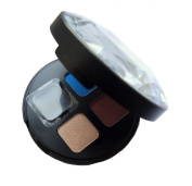 17 (Seventeen) Eye Palette Midnight Jewel Heist Eyeshadow Quad Blue, Brown, Black And Golden Beige