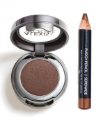 Beautiful Bronze Eyeshadow and Pudgy Eyeliner Pencil Kit - Alexis Vogel Bronzebarbie Eye Duet Kit - High Pigment, Long Lasting Colours - Matches a Variety of Eye Makeup Looks