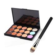 Kolight® 15 Colours Contour Face Cream Makeup Concealer Palette Makeup Brushes
